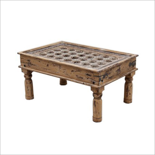 Wooden Brass Fitted Central Table