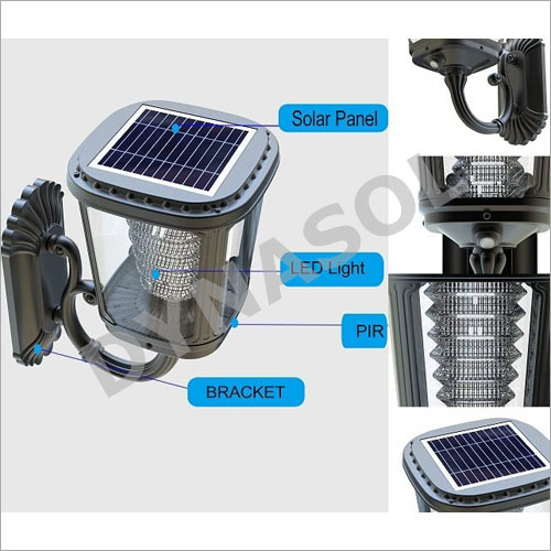 400 Lumens Fully Automatic All-In-One LED Solar Garden Wall Light