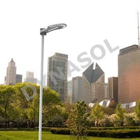 2500 Lumens Fully Automatic Remote Controlled All-In-One LED Solar Courtyard/Landscape Light