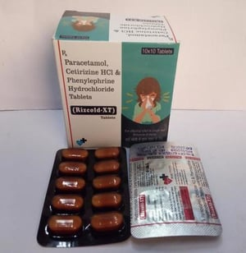 Paracetamol 500 mg+ Phenylephrine HCL 5mg +Cetrizine 5mg