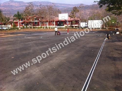 Tennis Court asphalt base construction