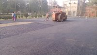 Tennis Court asphalt base construction