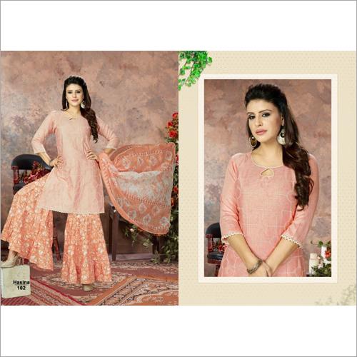 Ladies Casual Sharara Suits