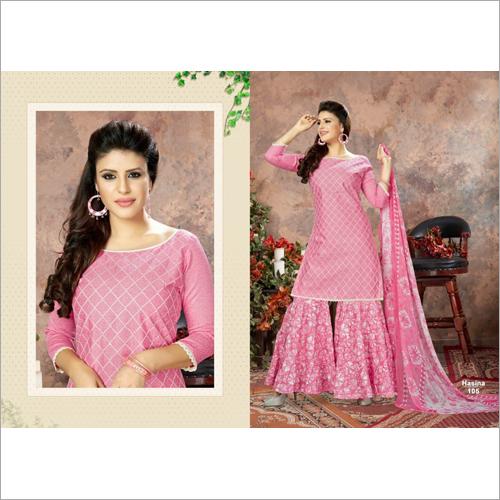 Ladies Cotton Sharara Suits