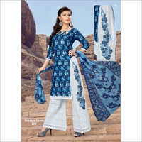 Ladies Cotton Printed with Sharara Suits