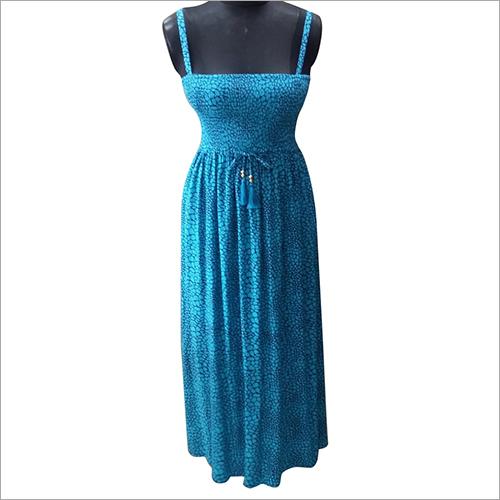 Ladies Sleevless Beachwear Long Dress