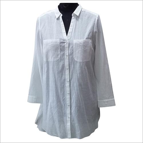 Ladies Long Plain Shirt Beachwear Dress