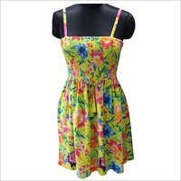 Ladies Sleevless Printed Beachwear Dress