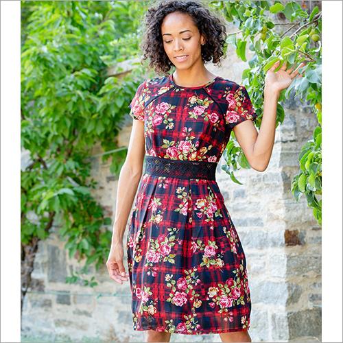 Ladies Batik Stripe Dress