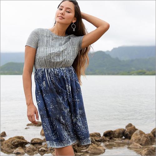 Ladies Flounce Sleeve Printed Dress