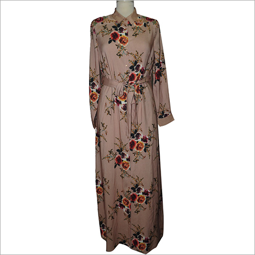 Ladies Printed Long Maxi Dress