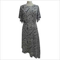 Ladies Printed Maxi Dress
