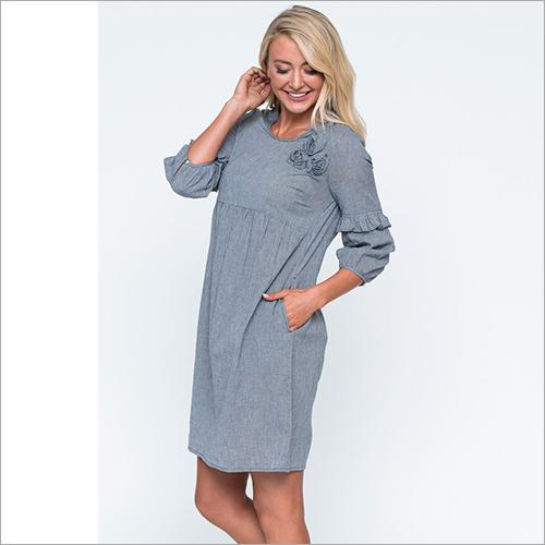 Ladies Ruffle Sleeve Dress