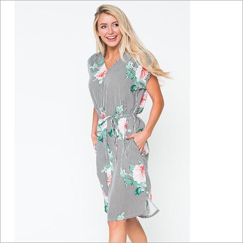 Ladies Printed Short Dress