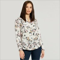 Ladies Printed Full Sleeve Shirt