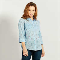 Ladies Cotton Printed Shirt