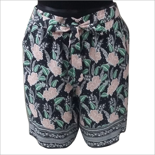 Ladies Floral Printed Shorts