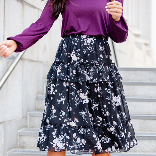 Ladies Fancy Printed Skirt