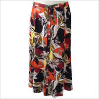 Ladies Printed Long Skirt