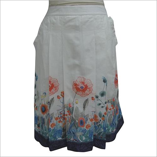 Ladies Short Floral Printed Skirt