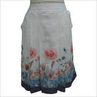 Ladies Short Floral Printed Skirt