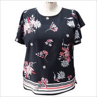 Ladies Printed Half Sleeve Top