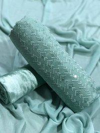 Cotton Embroidery Chudidar Dress Material