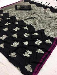 Soft Silk Kalamkari Designer Saree