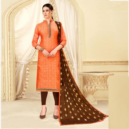 Unstitched Banarasi Silk Suit