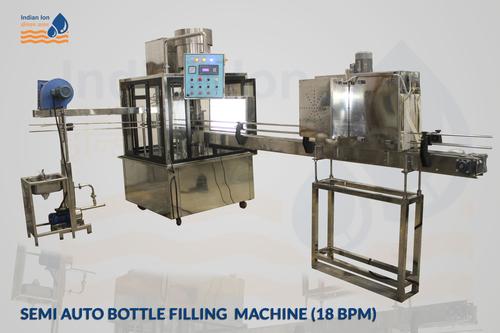 Semi Auto Bottle Filling Machine 18 BPM