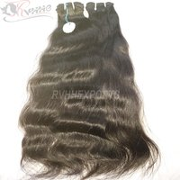 Wavy Human Hair Extension Machine Weft