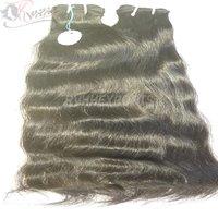 Wavy Human Hair Extension Machine Weft