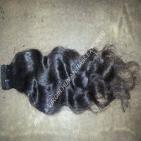 Wavy Virgin Indian Human Hair Extensions