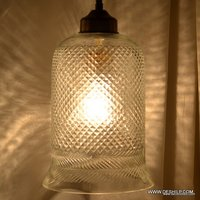 CUTTING GLASS ANTIQUE WALL HANGING LAMP