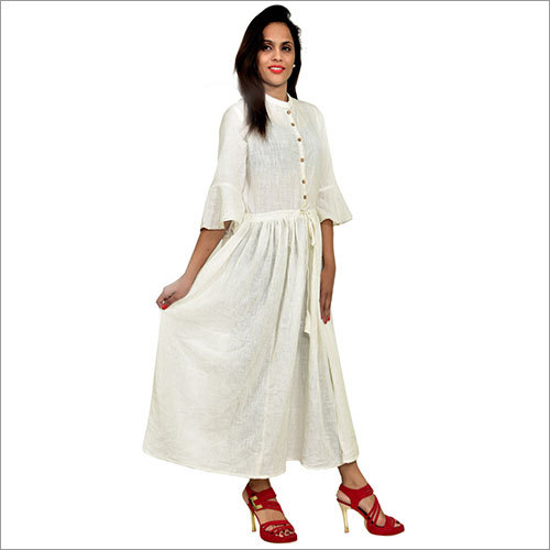 Dwarkas White Dress