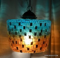 Multicolour Turkish Mosaic Hanging Lamp Light Hand Craft
