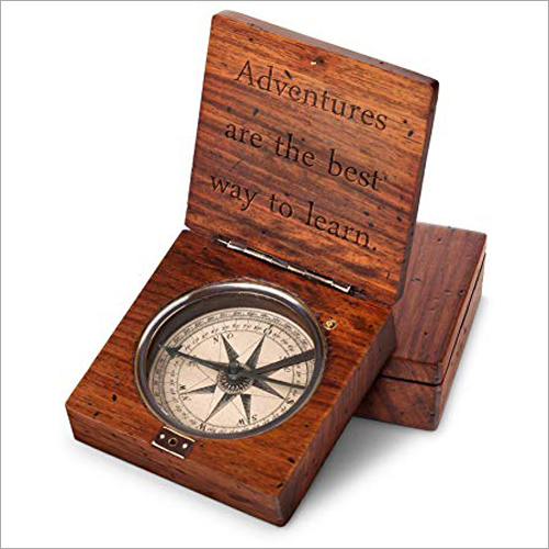 Antique Wooden Compass