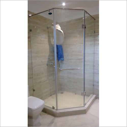 Solid Glass Shower Enclosure