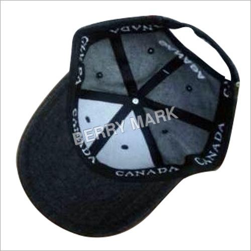 Printed Black Sports Cap