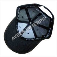 Printed Black Sports Cap