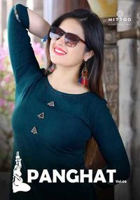 Mittoo Panghat Rayon Kurtis With Plazzo