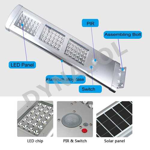 3000 Lumens Fully Automatic Remote Controlled All-In-One LED Solar Street Light