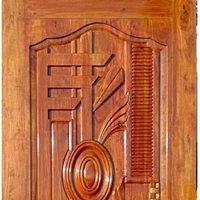 Teak wood 3D carving door