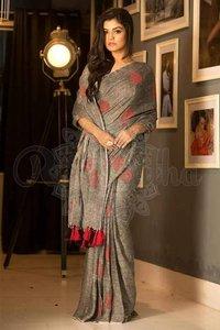 Ladies Linen Saree