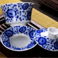 Tureen Porcelain Gaiwan Tea Cup/bowl and Saucer