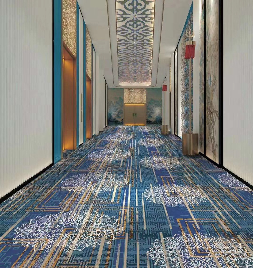 100% nylon material printed customizable pattern carpet for hotel/home