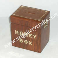 Wooden Money Box