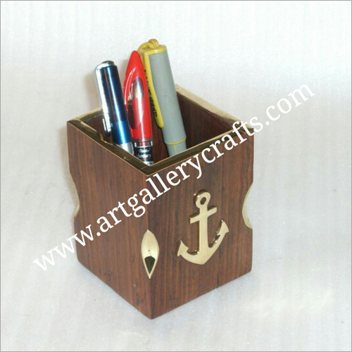Wooden Pen Cup