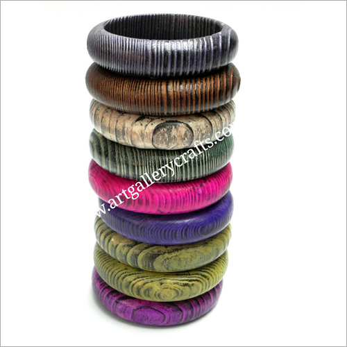 Wooden Multi Color Bangles