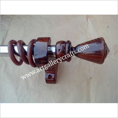 Wooden Curtain Socket